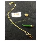 14K pendant & Necklace.