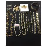 Costume Jewelry including Naper set.