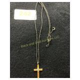 10K cross necklace