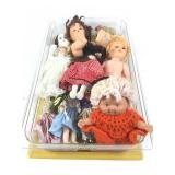Box lot including dolls