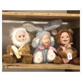 3 Geppeddo Cuddle Kids Critters