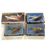 Lot of 4 Airplane Models