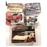 Lot of Five Car Model Kits