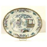 Giant 21 Inch Blue and White Oriental Platter