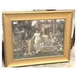 Antique Framed Print, Love and Duty