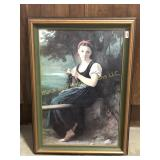Framed Print of a Young Girl