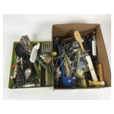 Box lot including kitchen utensils