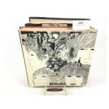 Vintage Beatles albums & album holder.