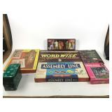 Puzzle, vintage games, paint by number set