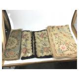 4 wool hooked rugs