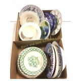 2 boxes assorted china plates and bowls