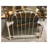 Brass & iron twin size head board