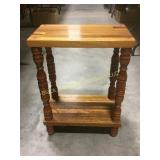 Nice mixed woods side table