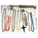Lot of 14 Costume Jewelry Necklaces