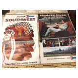 Lot of Two 1970s Amtrak Railroad Posters
