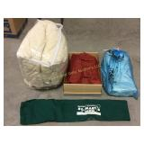 Box lot including bedspreads