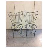 Pair Mid-Century Homecrest Rod-iron Chairs
