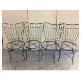 (4) Mid-Century Homecrest Rod-Iron Chairs