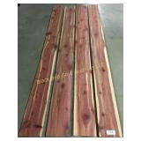 4 thin fresh cut red cedar boards