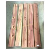 5 smaller fresh cut red cedar boards
