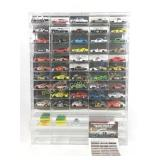 NASCAR Die-Cast car collection with showcase