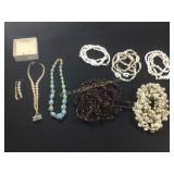 Lot of seed, shell and bead necklaces