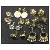 Eight pairs of assorted earrings