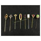 Lot of 8: vintage hatpins