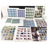 11 Sheets Of Collectible Stamps