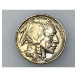 1938-D Buffalo nickel, near gem uncirculated