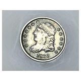 1833 Capped Bust half dime, VF details