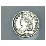 1835 Capped Bust half dime, XF details