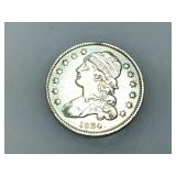 1834 Capped Bust quarter, VF