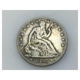 1855-O Seated Liberty half dollar, VG