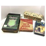 Lot of 4: neat cardboard product advertising boxes