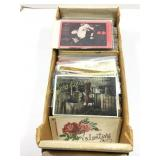 Box lot of assorted postcards
