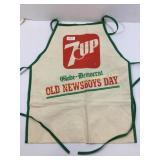 7 Up advertising newsboy apron