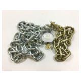 Heavy duty 2 pc chain and padlock