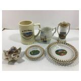 Lot of 6: souvenir ceramic pieces