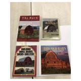 Lot of Four Books on Barns