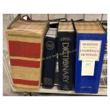 Lot of Four Dictionaries Including Unabridged