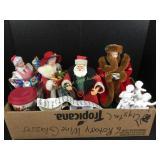 Box lot including Christmas figures
