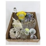 Box lot including Crystal bowl