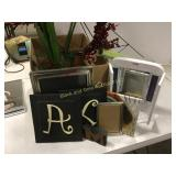 Box lot home decor and lighted mirror