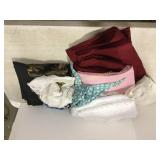 Assorted curtain panels and linens