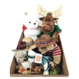 Box lot including NY Teddy bear