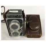 Vintage  Ricohflex camera & case