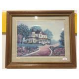 Framed print Farmhouse and walkway