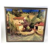 Wall art picture with wood frame