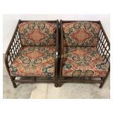 (2) Pair Matching Wood Framed Chairs